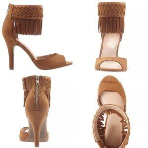 Lane Bryant Boho Fringe Sandal Pumps NWT Plus Size